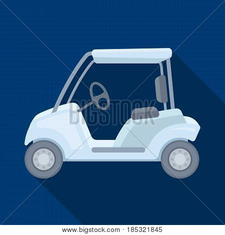 Car for golf.Golf club single icon in flat style vector symbol stock illustration .