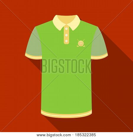 Uniform shirt for golf.Golf club single icon in flat style vector symbol stock illustration .
