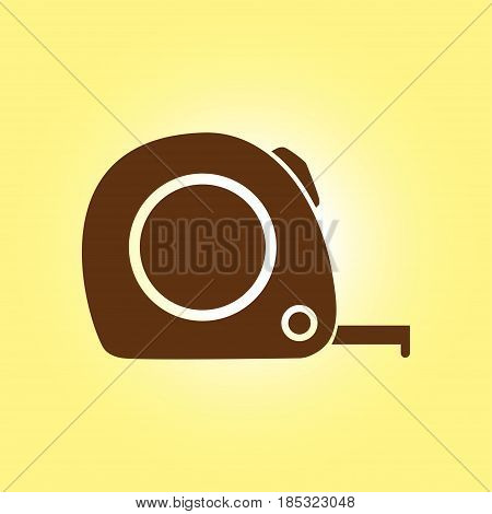 Tape measure icon. Roulette construction  symbol. Dimensions and measurements. Create a cutting card.
