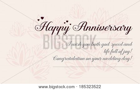 Happy wedding card graphic vector art collection stock
