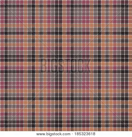 Mosaic check plaid pixel fabric texture seamless pattern. Flat design. Vector illustration.