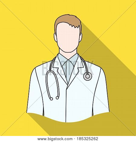 Doctor.Professions single icon in flat style vector symbol stock illustration .