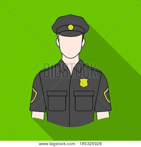 Policeman.Professions single icon in flat style vector symbol stock illustration .