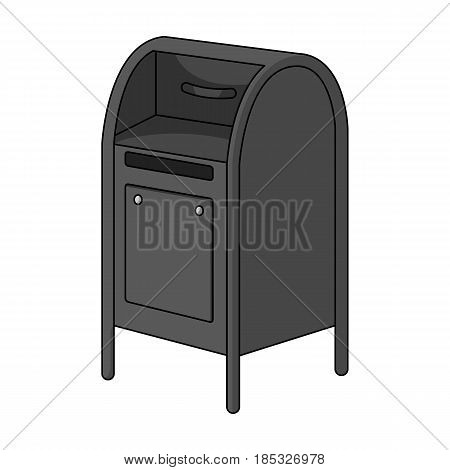 Mailbox.Mail and postman single icon in monochrome style vector symbol stock illustration .
