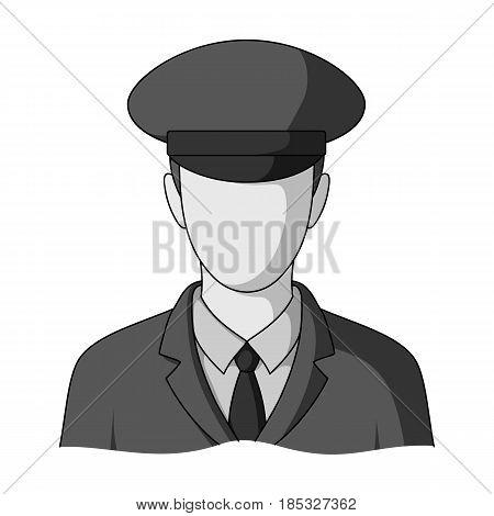 Postman.Mail and postman single icon in monochrome style vector symbol stock illustration .