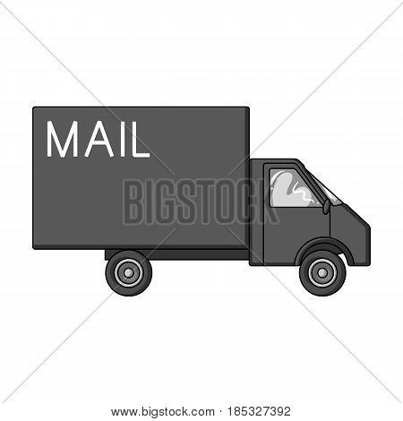 Mail machine.Mail and postman single icon in monochrome style vector symbol stock illustration .