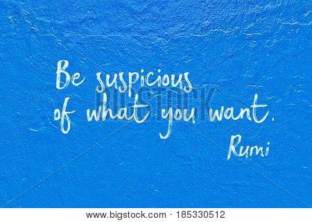 What You Want Rumi