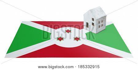 Small House On A Flag - Burundi