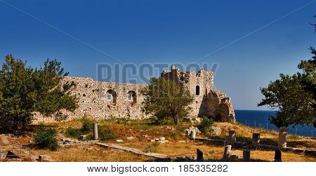 The castle of Lykourgos Logothetis is situated to the southwest of the port of Pithagorio