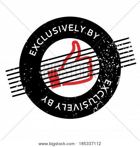 Exclusively By rubber stamp. Grunge design with dust scratches. Effects can be easily removed for a clean, crisp look. Color is easily changed.