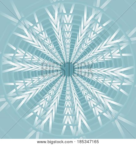 Light blue star shape on low contrasting background, vector EPS 10