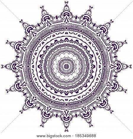 Colorful Bright Vector Illustrated Mandala.