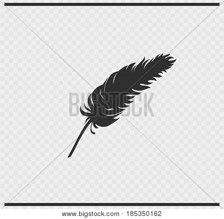 plumage icon black color on transparent background