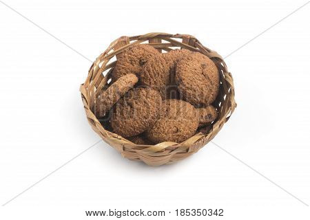 Whole Grain Cookies Into A Basket