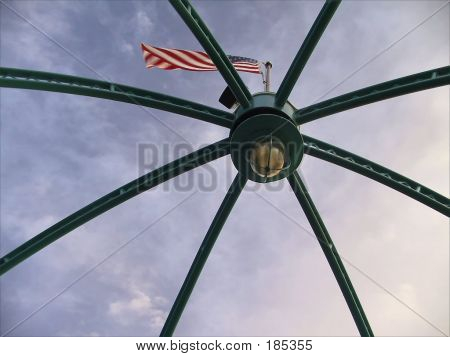 Flag Atop A Light