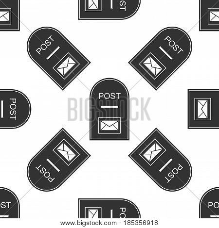 Mail box icon. Post box icon seamless pattern on white background. Vector Illustration