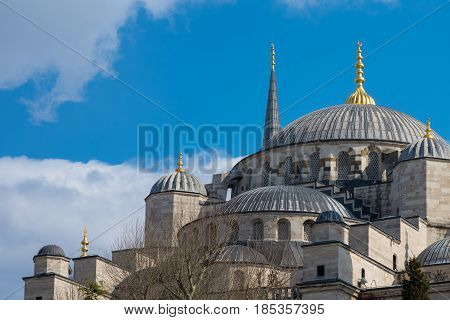 Blue mosque at Istanbul, Turkey. The biggest mosque in Istanbul of Sultan Ahmed (Ottoman Empire),Istanbul,Turkey