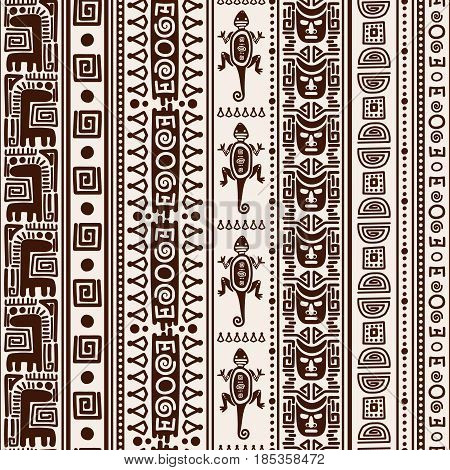 Mexican indian seamless pattern. Vector native american folk texture