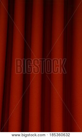 Heavy Dark Red Pleated Felt Curtain Background