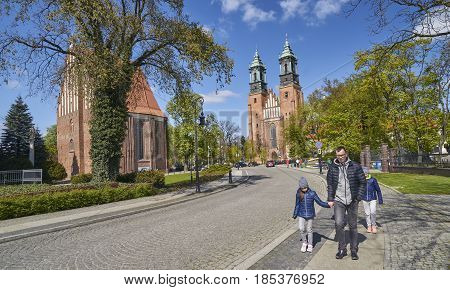 Poznan, Poland - April 30, 2017: Cathedral And St. Mary S Church