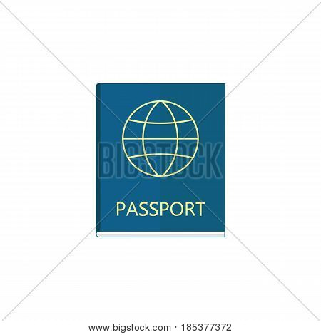 Passport flat icon, travel tourism, citizen and id, a colorful solid pattern on a white background, eps 10.
