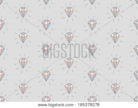 Colorful Decorative Seamless Background Patterns with Diamonds. Vector Illustration. Pattern Swatch