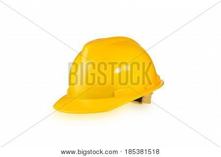 Construction Helmet. Hard Hat. Helmet Builder. Construction Helmet isolated on white background with clipping path.