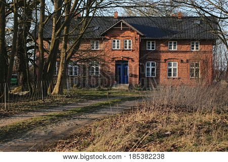 Manor House Listed As Monument In Jager Near Greifswald, Mecklenburg-vorpommern, Germany