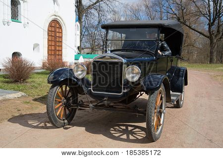 ST PETERSBURG, RUSSIA - MAY 04, 2017: Ford model T on a sunny May day