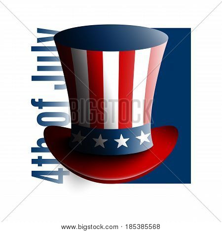 Uncle Sam's hat. Symbol of freedom and liberty. Stock vector