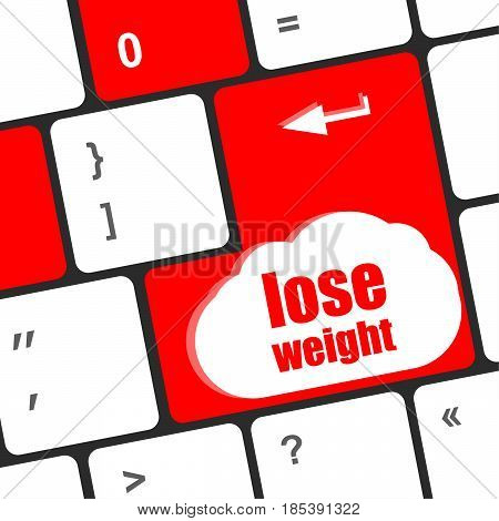 Lose Weight On Keyboard Enter Key Button