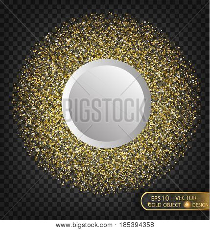Gold Sparkles On A Transparent Background. Gold Background With Sparkles. Gold Background For Card,