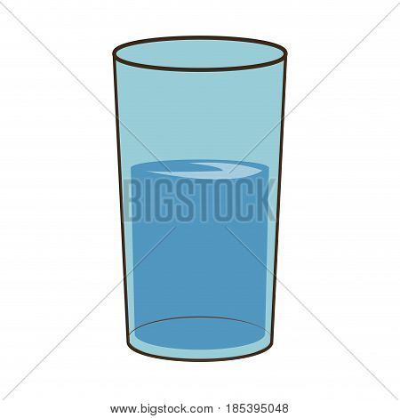 water glass cup fresh health vector illustration