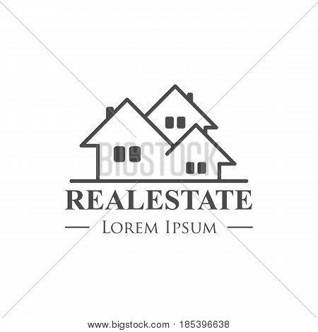 real estate vector logo template - vector illustration