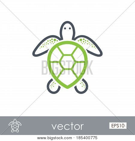 Sea turtle outline vector icon. Beach. Summer. Summertime. Holiday. Vacation eps 10