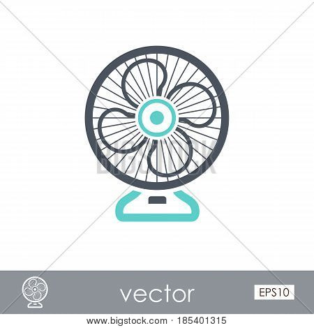 Ventilator outline vector icon. Summer. Summertime. Holiday. Vacation eps 10