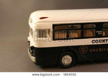 Diecast Sheriff Bus,Front