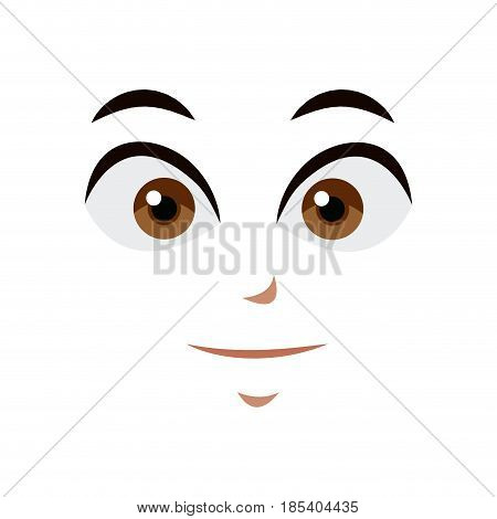 anime face expression comic image vector illustration