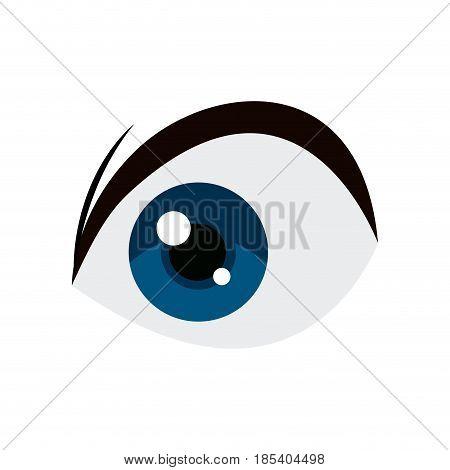 anime blue eye comic manga image vector illustration