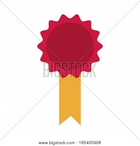 rosette diploma certifcate quality image vector illustration