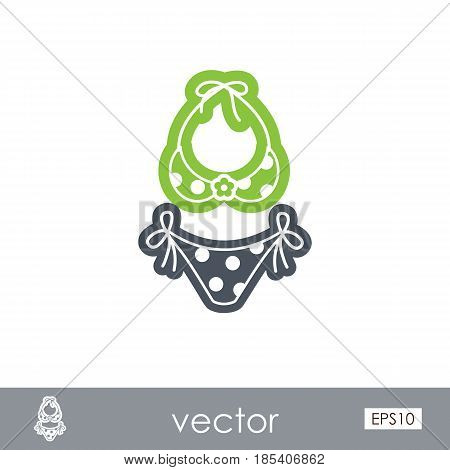 Swimsuit outline vector icon. Beach. Summer. Summertime. Holiday. Vacation ride water sport eps 10