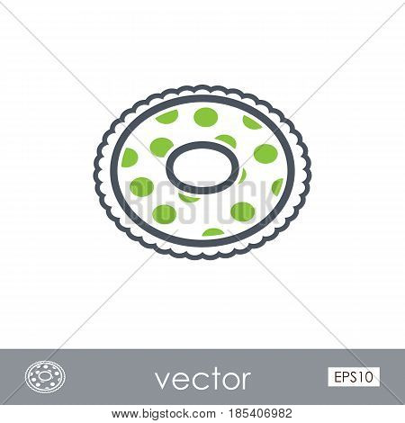 Swimming circle on the water outline vector icon. Beach. Summer. Summertime. Holiday. Vacation eps 10