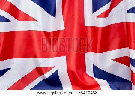 Uk Flag Flutters In The Wind.the Place To Advertise, Template.