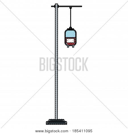 drawing bag blood hang donation medicine vector illustration