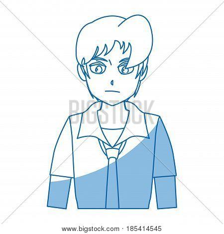 boy teenager anime comic image vector illustration