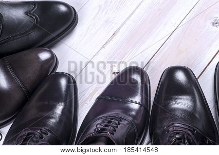 Male Fashion With Shoes On White