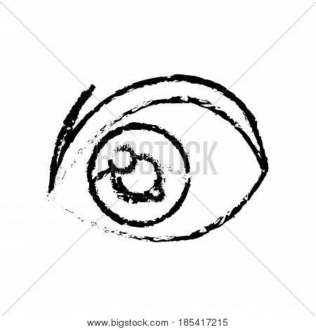 sketch eye anime cartoon design vector illustration