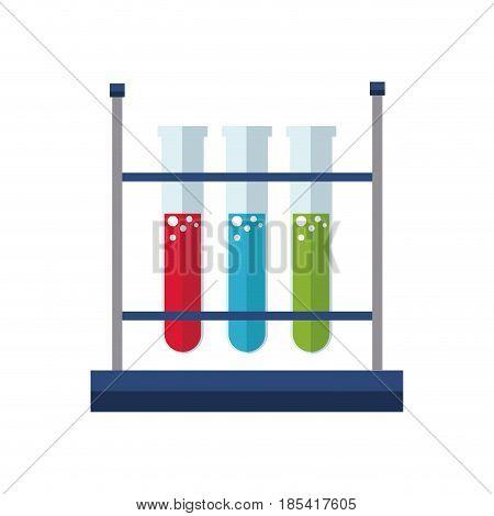 test tube rack laboratory exam liquid vector illustration