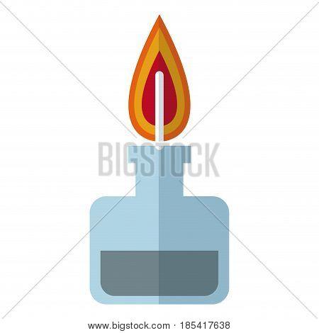 bunsen burner flame laboratory chemistry vector illustration