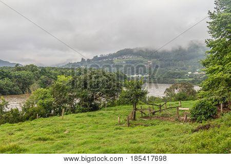 Taquari River And Farm